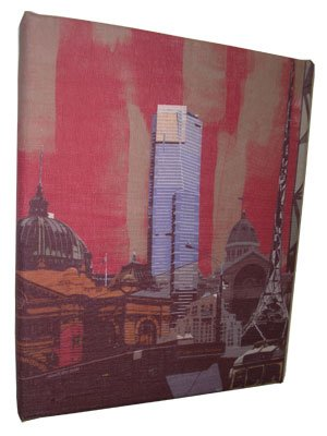 Art Canvas Small 20x25 Melbourne Collage Red