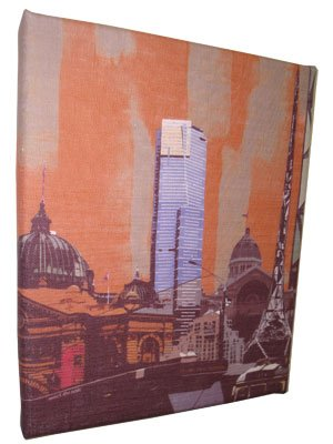 Art Canvas Small 20x25 Melbourne Collage Orange