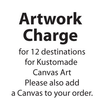 Personalised Artwork Fee Destination Canvas Art (12 words)