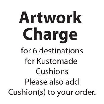 Artwork Fee Personalised Destination Cushions (6 words)