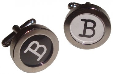 Cuff Links Typewriter Letters