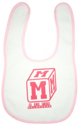 Bib M is for Melbourne Red