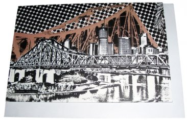 Greeting Card A6 Story Bridge Brown
