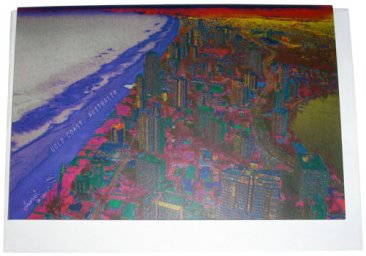 Greeting Card A6 Gold Coast Sunset