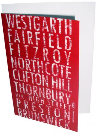 Greeting Card A6 Destination Red