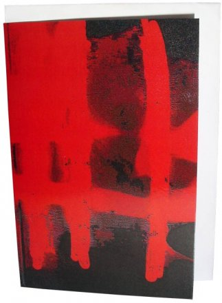 Greeting Card A6 Aggressive Paint Red
