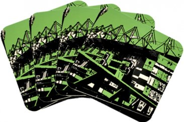 Coasters Set of 4 Melbourne Cricket Ground Green