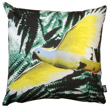 Cushion Cockatoo Black