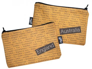 My Two Worlds Pencil Case 18x10cm Australia & England