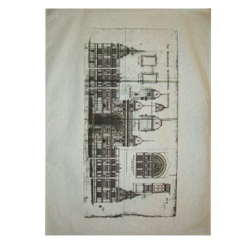 Tea Towel 50x70cm Linen/Cotton Royal Exhibition Building Plan