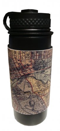 Coffee Flask 550ml Whiteheads 1887 Map of Melbourne