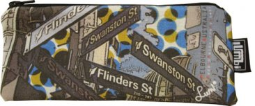 Glasses Case 19x8cm Melbourne Street Signs Dots