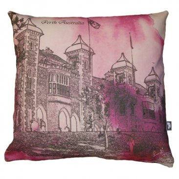 Cushion Government House Perth Watercolour Pink