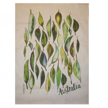 Tea Towel 50x70cm Gum Leaves Australia