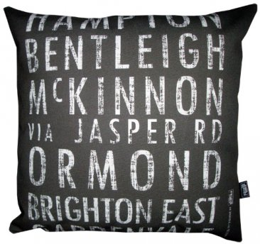 Cushion Destination Scroll Hampton to Gardenvale Vintage (Various Colours)