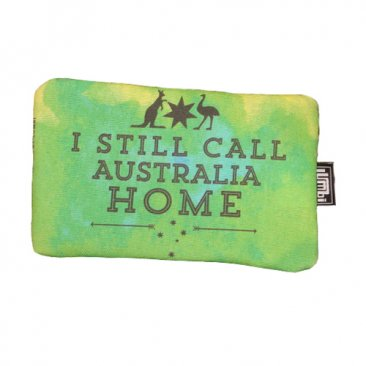 Pencil Case 18x10cm I Still Call Australia Home Green