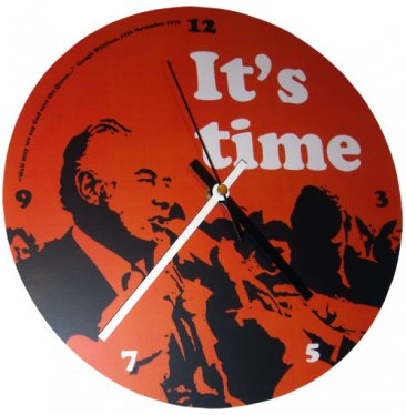 Clock 27cm It's Time Gough Whitlam