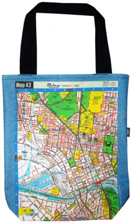 Large Tote 40x30x10cm Melway Maps Natural for most suburbs