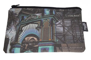 Pencil Case 18x10cm Amusing St.Kilda Blue