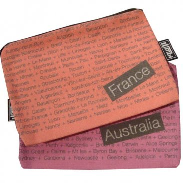 My Two Worlds Pencil Case 18x10cm Australia & France