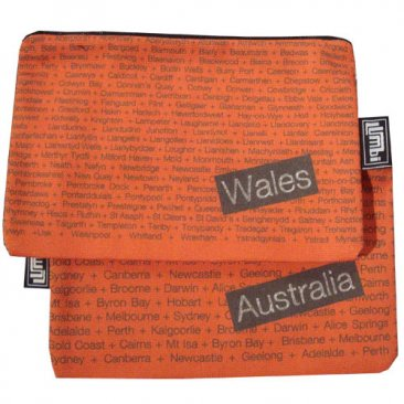 My Two Worlds Pencil Case 18x10cm Australia & Wales