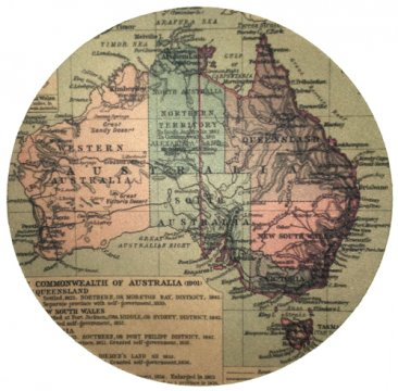 Mouse Pad Australian Map 1923