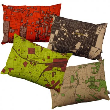 My Place Map Cushion 50x36cm