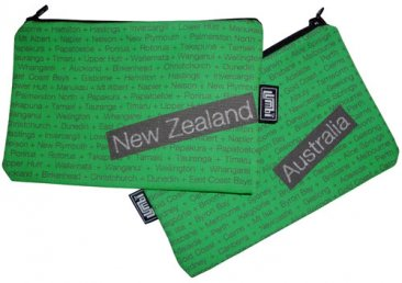 My Two Worlds Pencil Case 18x10cm Australia & New Zealand