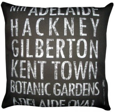 Cushion Destination Scroll Nth Adelaide to Adelaide Oval Vintage (Various Colours)