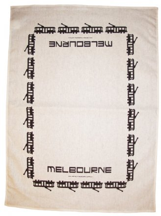 Tea Towel 50x70cm Linen/Cotton Omni Trams