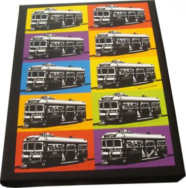 Art Canvas 20x25cm Pop Art Tram