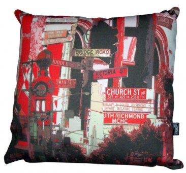 Cushion Richmond Streets Signs Red
