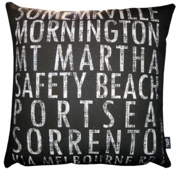 Cushion Destination Scroll Somerville to Rye Vintage (Various Colours)