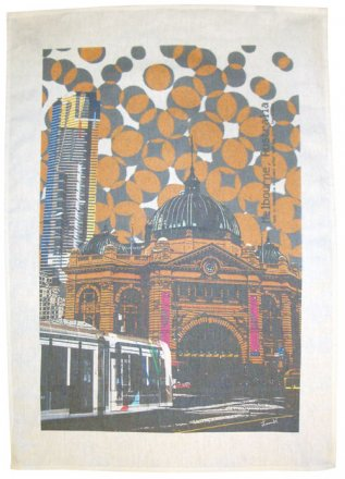 Tea Towel 50x70cm Linen/Cotton The Old & The New
