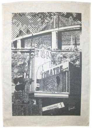 Tea Towel 50x70cm Linen/Cotton Yarraville Collage