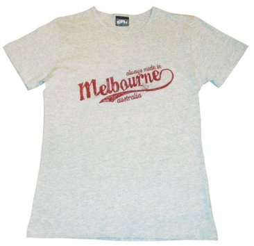 T-Shirt Grey Always made in Melbourne Australia
