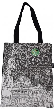Tote Bag 40x33cm Flinders St Etchings