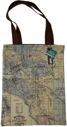 Tote Bag 40x33cm Whiteheads 1887 Map of Melbourne