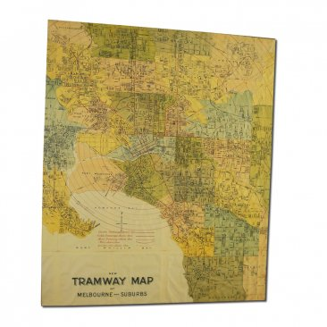 Canvas Art 50x60cm Tramway Map 1901