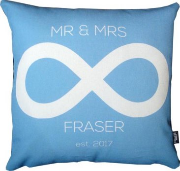Cushion Wedding Infinity Blue
