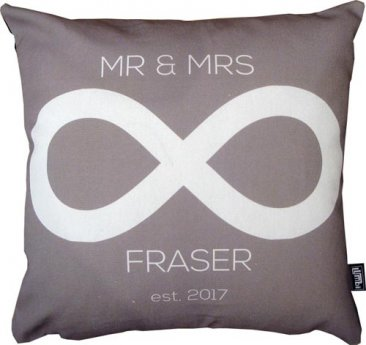 Cushion Wedding Infinity Grey