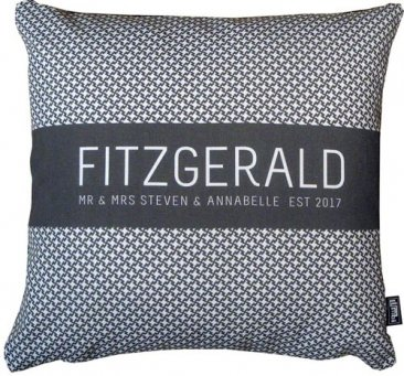 Cushion Wedding Pattern Black