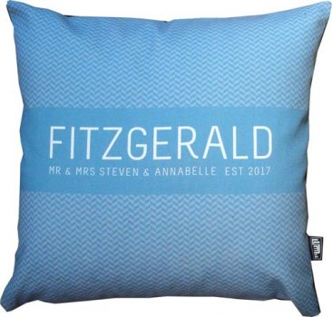 Cushion Wedding Pattern Blue