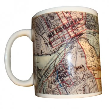 Mug Whiteheads 1887 Map of Melbourne