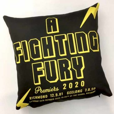 Cushion AFL Richmond A Fighting Fury Premiership 2020
