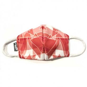 Face Mask Triangular Pattern Red