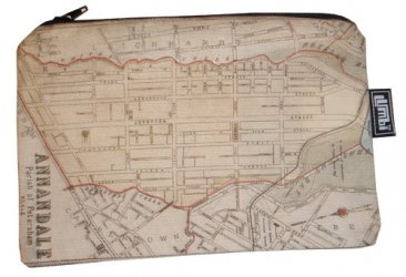 Pencil Case 18x10cm Annandale Old Map