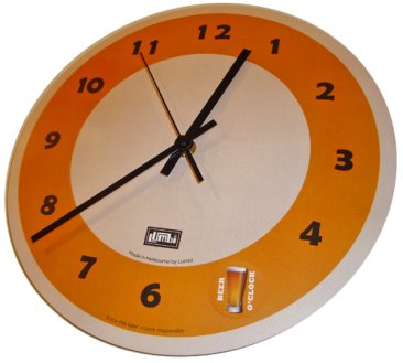 Clock 27cm Destination Australia Green