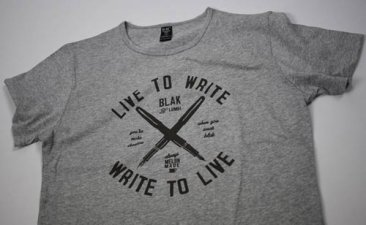 Unisex T-Shirt Grey Marle Live to Write Print