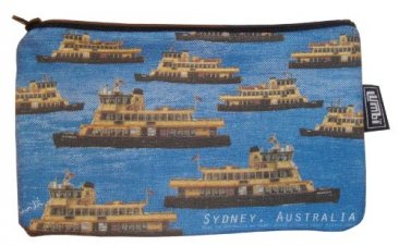 Pencil Case 18x10cm Ferries Blue